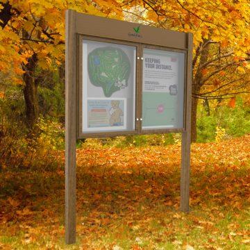 Wood Effect Church And Parish Notice Board